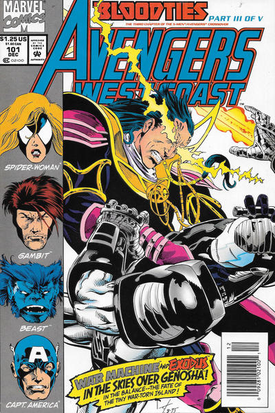 Cover for Avengers West Coast (Marvel, 1989 series) #101 [Direct Edition]