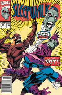 Cover Thumbnail for Sleepwalker (Marvel, 1991 series) #22 [Newsstand]