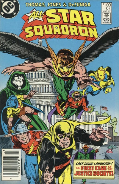 Cover for All-Star Squadron (DC, 1981 series) #67 [Direct]