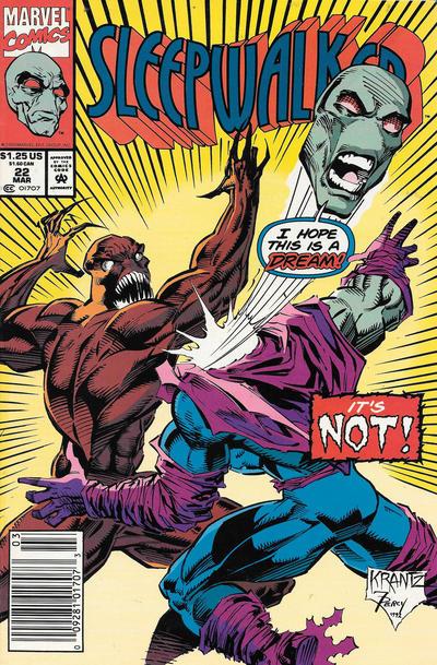 Cover for Sleepwalker (Marvel, 1991 series) #22 [Direct]