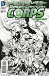 Cover for Green Lantern Corps (DC, 2011 series) #20 [Andy Kubert Black & White Cover]