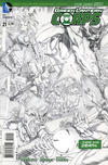 Cover for Green Lantern Corps (DC, 2011 series) #21 [Rags Morales Sketch Cover]