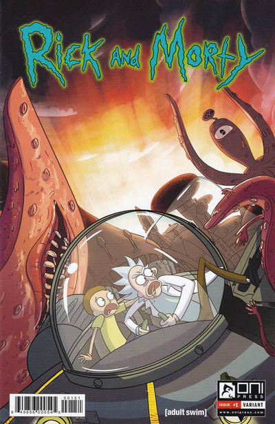 Cover for Rick and Morty (Oni Press, 2015 series) #1 [Incentive Cover C - Justin Roiland Variant]