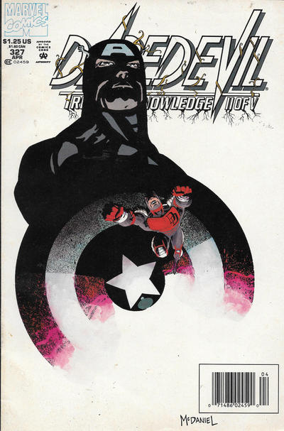 Cover for Daredevil (Marvel, 1964 series) #327 [Direct Edition]