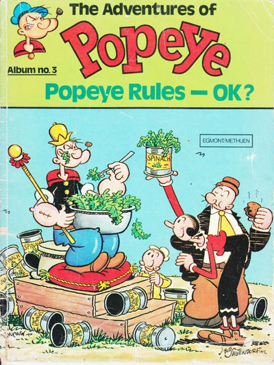 Cover for The Adventures of Popeye (Egmont/Methuen, 1978 ? series) #3