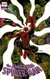 Cover Thumbnail for Amazing Spider-Man (Marvel, 2018 series) #1 (802) [Variant Edition - Kings Comics Exclusive - Dave Johnson Cover]