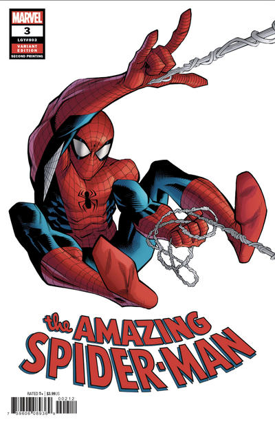 Cover for Amazing Spider-Man (Marvel, 2018 series) #3 (804) [Variant Edition - Unknown Comics Exclusive - Tyler Kirkham Cover]