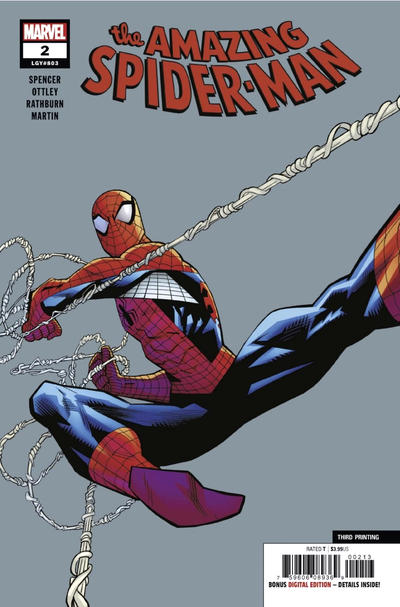Cover for Amazing Spider-Man (Marvel, 2018 series) #2 (803) [Regular Edition - Ryan Ottley Cover]