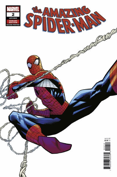 Cover for Amazing Spider-Man (Marvel, 2018 series) #2 (803) [Variant Edition - Unknown Comics Exclusive - Philip Tan Whiteout Virgin Cover]