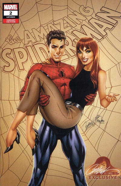 Cover for Amazing Spider-Man (Marvel, 2018 series) #2 (803) [Variant Edition - J. Scott Campbell Exclusive - Cover A]