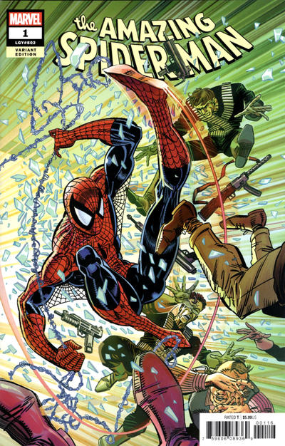 Cover for Amazing Spider-Man (Marvel, 2018 series) #1 (802) [Variant Edition - Alex Ross Exclusive - Wraparound]