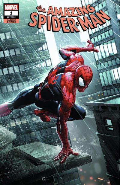 Cover for Amazing Spider-Man (Marvel, 2018 series) #1 (802) [Variant Edition - Comic Sketch Art Exclusive - Adam Hughes Virgin Cover]