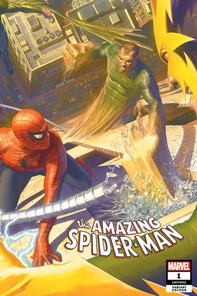 Cover for Amazing Spider-Man (Marvel, 2018 series) #1 (802) [Variant Edition - Comic Sketch Art Exclusive 'Secret Saturday Evening Post' Homage - Mark Brooks Cover]