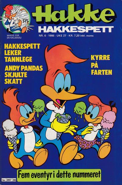 Cover for Hakke Hakkespett (Semic, 1977 series) #6/1986