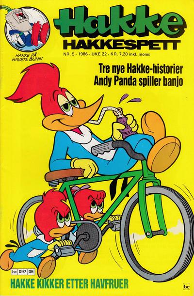 Cover for Hakke Hakkespett (Semic, 1977 series) #5/1986