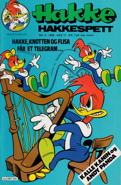Cover for Hakke Hakkespett (Semic, 1977 series) #4/1986