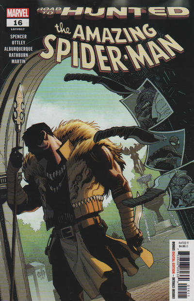Cover for Amazing Spider-Man (Marvel, 2018 series) #16 (817) [Variant Edition - Captain Marvel - Mike Hawthorne Cover]