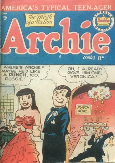 Cover for Archie Comics (H. John Edwards, 1950 ? series) #9