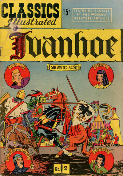 Cover for Classics Illustrated (Gilberton, 1947 series) #2 [HRN 78] - Ivanhoe