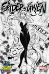 Cover Thumbnail for Spider-Gwen (2015 series) #1 [Variant Edition - Midtown Comics Exclusive! - J. Scott Campbell Black and White Cover]