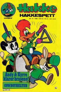Cover Thumbnail for Hakke Hakkespett (Semic, 1977 series) #10/1986