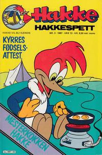 Cover Thumbnail for Hakke Hakkespett (Semic, 1977 series) #3/1987