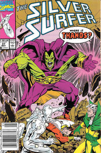 Cover Thumbnail for Silver Surfer (Marvel, 1987 series) #37 [Newsstand]