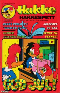Cover Thumbnail for Hakke Hakkespett (Semic, 1977 series) #12/1987