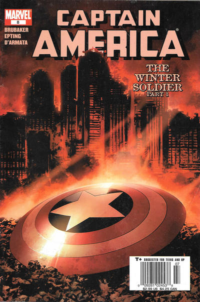 Cover for Captain America (Marvel, 2005 series) #8 [Newsstand [Cover A]]