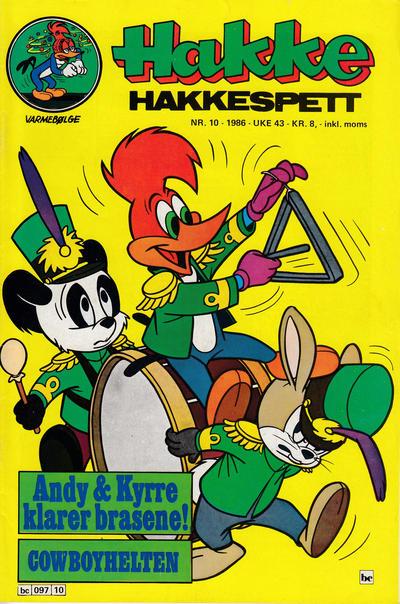 Cover for Hakke Hakkespett (Semic, 1977 series) #10/1986