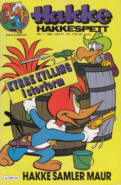 Cover for Hakke Hakkespett (Semic, 1977 series) #7/1986