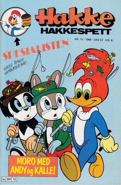 Cover for Hakke Hakkespett (Semic, 1977 series) #12/1986