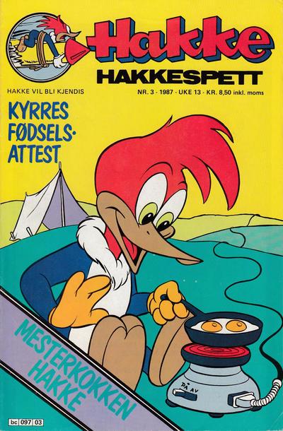 Cover for Hakke Hakkespett (Semic, 1977 series) #3/1987