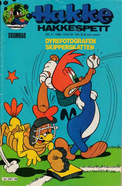 Cover for Hakke Hakkespett (Semic, 1977 series) #5/1988