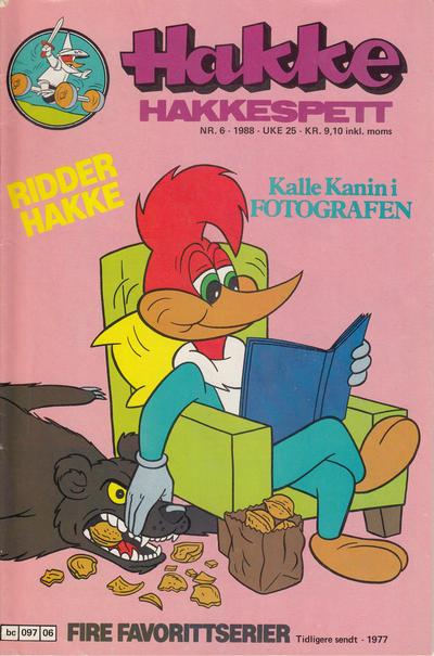Cover for Hakke Hakkespett (Semic, 1977 series) #6/1988