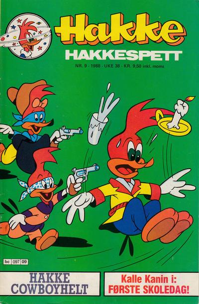 Cover for Hakke Hakkespett (Semic, 1977 series) #9/1988