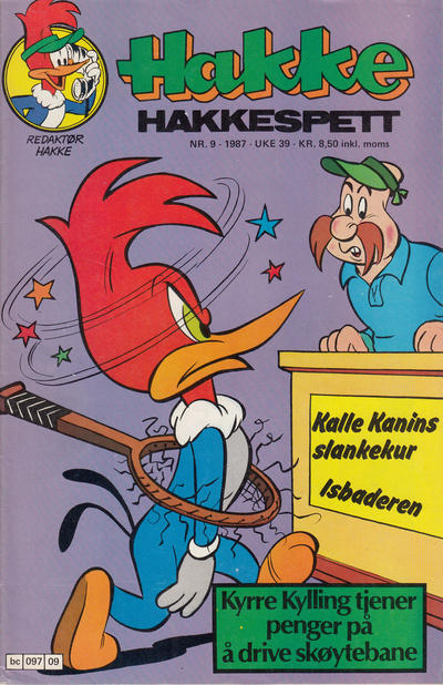 Cover for Hakke Hakkespett (Semic, 1977 series) #9/1987