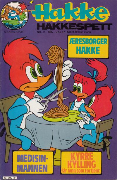 Cover for Hakke Hakkespett (Semic, 1977 series) #11/1987