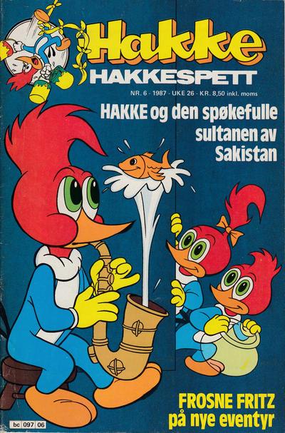 Cover for Hakke Hakkespett (Semic, 1977 series) #6/1987