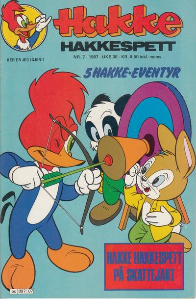 Cover for Hakke Hakkespett (Semic, 1977 series) #7/1987