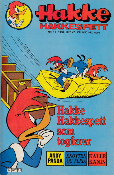 Cover for Hakke Hakkespett (Semic, 1977 series) #11/1988
