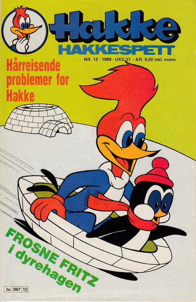 Cover for Hakke Hakkespett (Semic, 1977 series) #12/1988