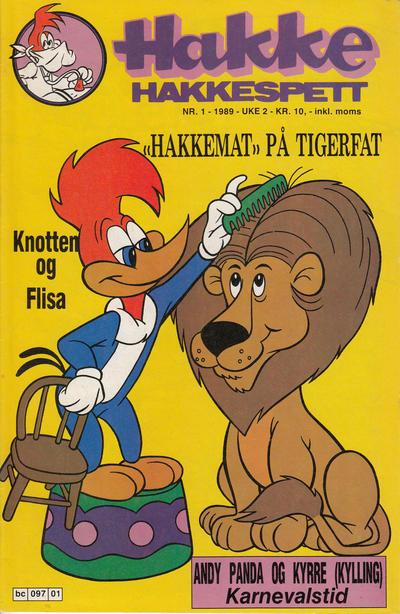 Cover for Hakke Hakkespett (Semic, 1977 series) #1/1989