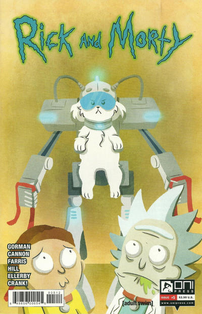 Cover for Rick and Morty (Oni Press, 2015 series) #5 [CJ Cannon Cover]