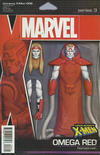 Cover for Uncanny X-Men (Marvel, 2019 series) #6 (625) [John Tyler Christopher Action Figure (Horseman Omega Red)]