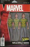 Cover for Uncanny X-Men (Marvel, 2019 series) #2 (621) [John Tyler Christopher Action Figure (Multiple Man)]