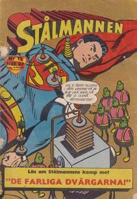 Cover Thumbnail for Stålmannen (Centerförlaget, 1949 series) #12/1963