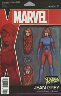 Cover Thumbnail for Uncanny X-Men (Marvel, 2019 series) #9 [John Tyler Christopher Action Figure (Jean Grey)]