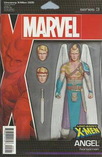 Cover Thumbnail for Uncanny X-Men (Marvel, 2019 series) #5 (624) [John Tyler Christopher Action Figure (Horseman Angel)]