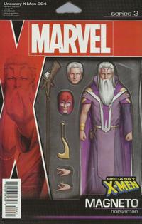 Cover Thumbnail for Uncanny X-Men (Marvel, 2019 series) #4 (623) [John Tyler Christopher Action Figure (Horseman Magneto)]